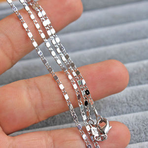 New 18K White Gold Filled Chain Necklace 17.7""